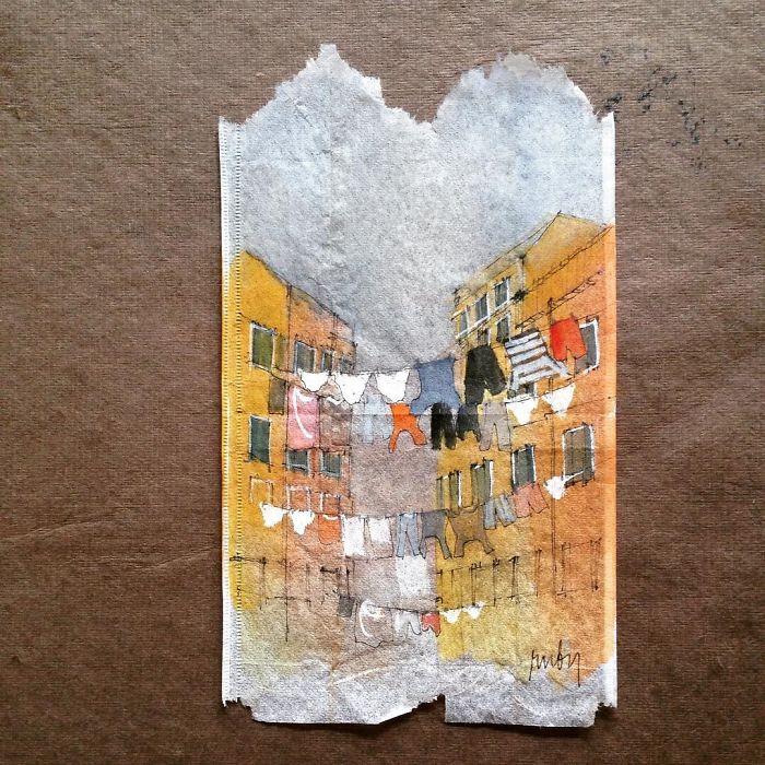 Pendant 363 jours, une artiste dessine sur des sachets de thé usagés illustration-sachet-the-363-jours-7