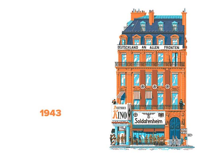 L'évolution de l'architecture de Paris illustrée par le français Vincent Mahé illustrations-vincent-mahe-paris-12