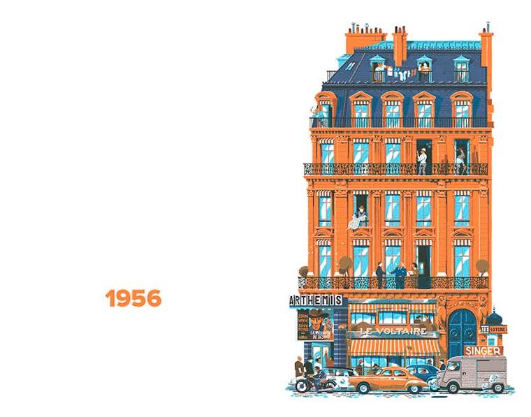 L'évolution de l'architecture de Paris illustrée par le français Vincent Mahé illustrations-vincent-mahe-paris-13