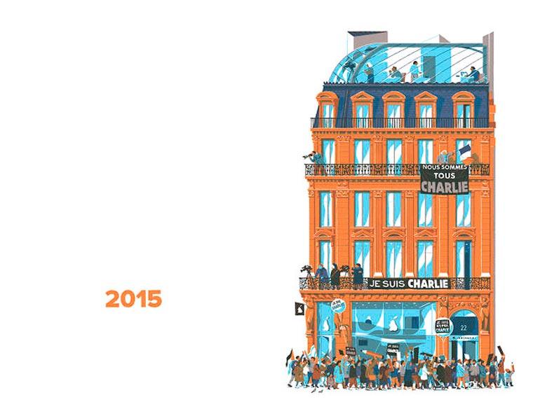 L'évolution de l'architecture de Paris illustrée par le français Vincent Mahé illustrations-vincent-mahe-paris-14