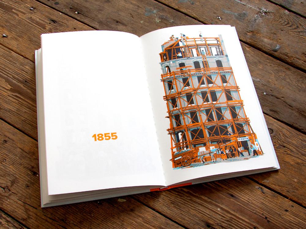 L'évolution de l'architecture de Paris illustrée par le français Vincent Mahé illustrations-vincent-mahe-paris-9