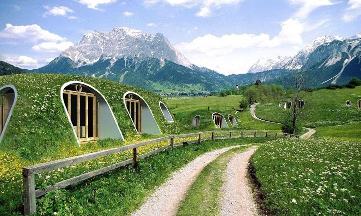 Ces maisons écologiques sont construites en seulement trois jours maison-verte-hobbit-6