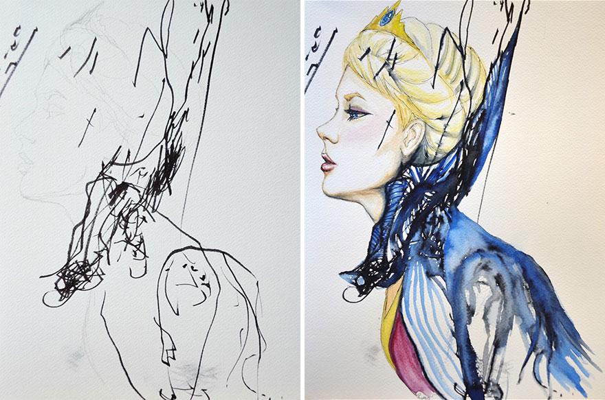 Une maman détourne les dessins de sa fille de 3 ans maman-detourne-dessins-fille-1