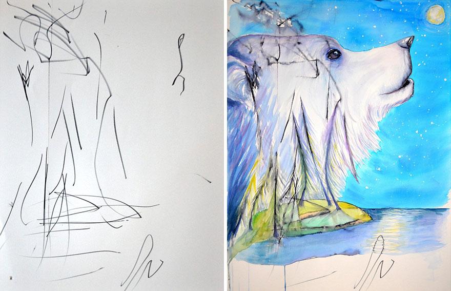 Une maman détourne les dessins de sa fille de 3 ans maman-detourne-dessins-fille-7