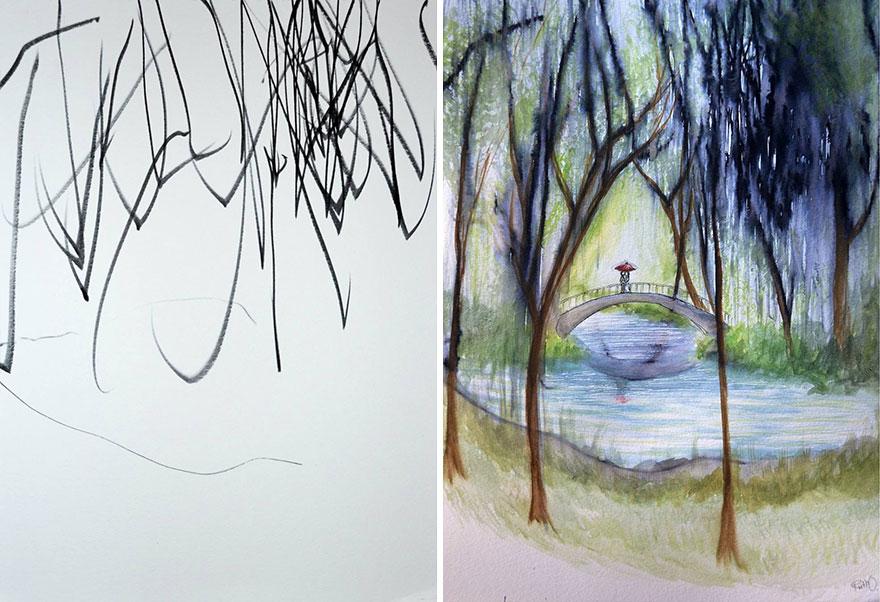Une maman détourne les dessins de sa fille de 3 ans maman-detourne-dessins-fille-8