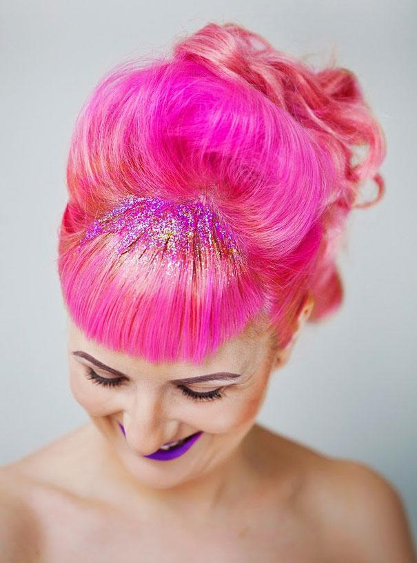 Pailletez vos racines, c'est la nouvelle tendance sur Instagram mode-paillette-racine-cheveux-4