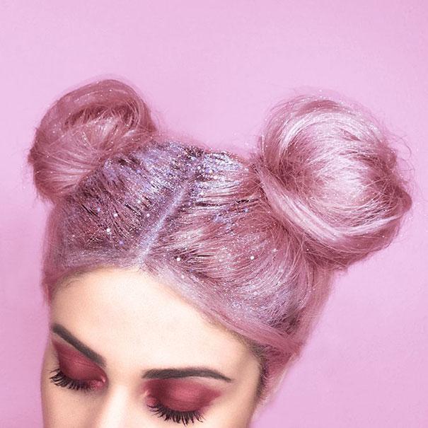 Pailletez vos racines, c'est la nouvelle tendance sur Instagram mode-paillette-racine-cheveux-5