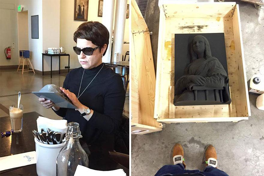 """Les aveugles pourront """"voir"""" les célèbres tableaux grâce à l'impression 3D peintures-3d-aveugle-5"""