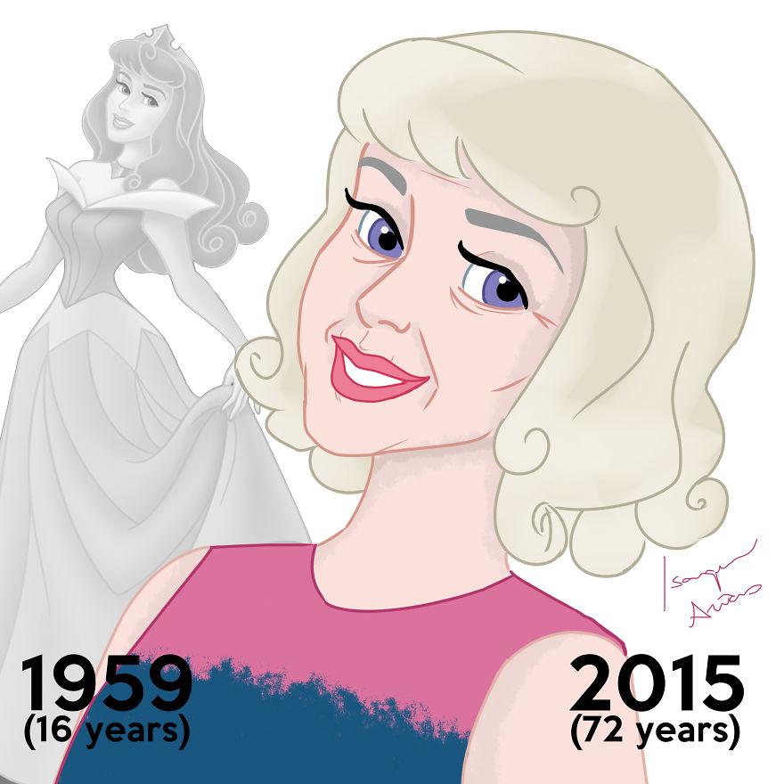 Si les PRINCESSES Disney pouvaient vieillir, à quoi ressembleraient-elles aujourd'hui ? princesse-disney-age-aujourdhui-3