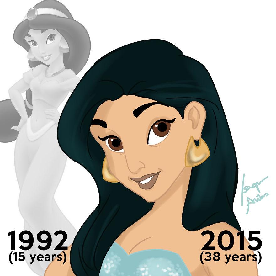 Si les PRINCESSES Disney pouvaient vieillir, à quoi ressembleraient-elles aujourd'hui ? princesse-disney-age-aujourdhui-6