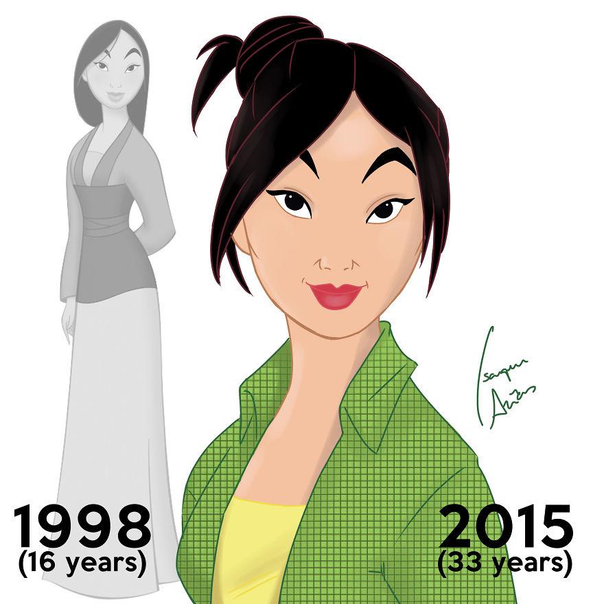 Si les PRINCESSES Disney pouvaient vieillir, à quoi ressembleraient-elles aujourd'hui ? princesse-disney-age-aujourdhui-8