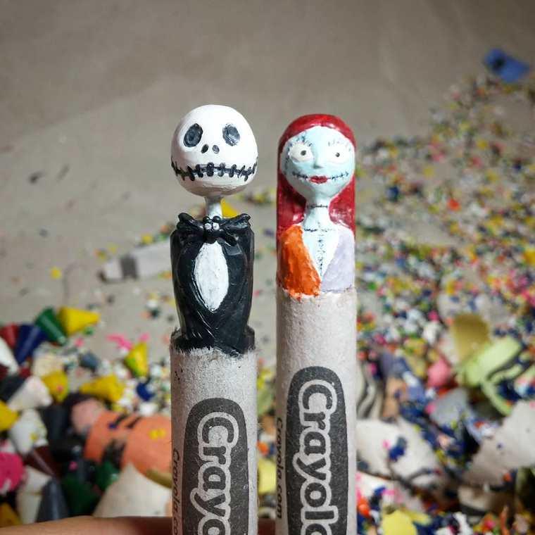 Des crayons sculptés multicolores inspirés de la pop-culture sculpture-crayola-hoang-tran-14