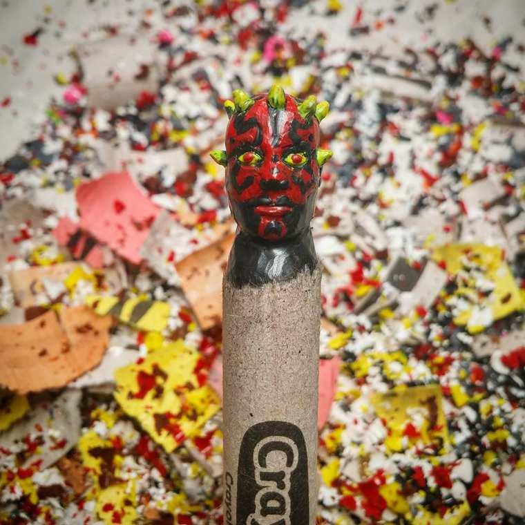 Des crayons sculptés multicolores inspirés de la pop-culture sculpture-crayola-hoang-tran-18