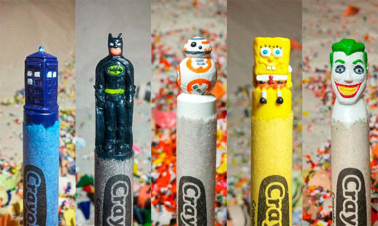 Des crayons sculptés multicolores inspirés de la pop-culture sculpture-crayola-hoang-tran-22