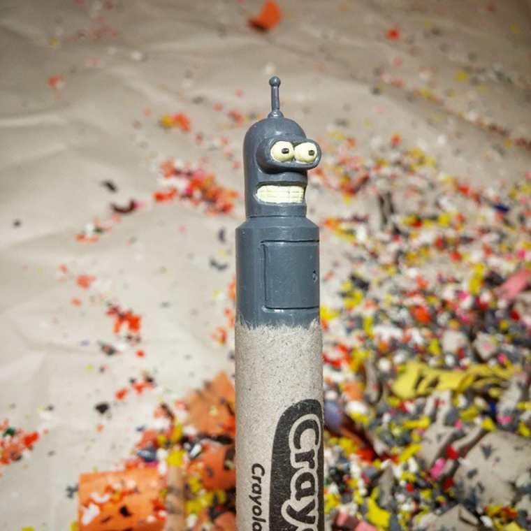Des crayons sculptés multicolores inspirés de la pop-culture sculpture-crayola-hoang-tran-3