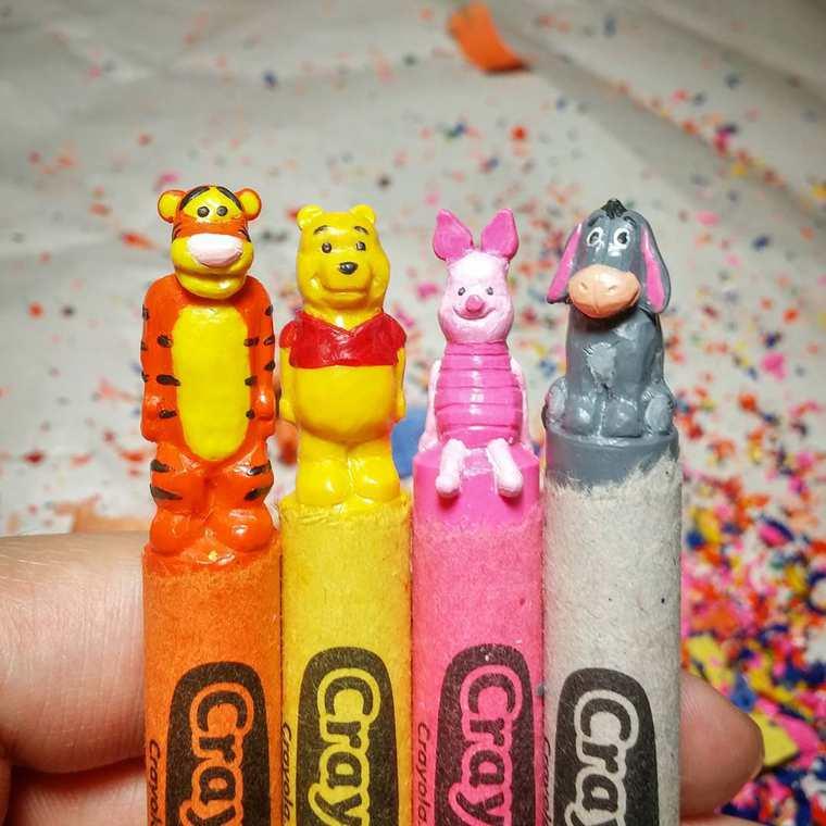 Des crayons sculptés multicolores inspirés de la pop-culture sculpture-crayola-hoang-tran-5