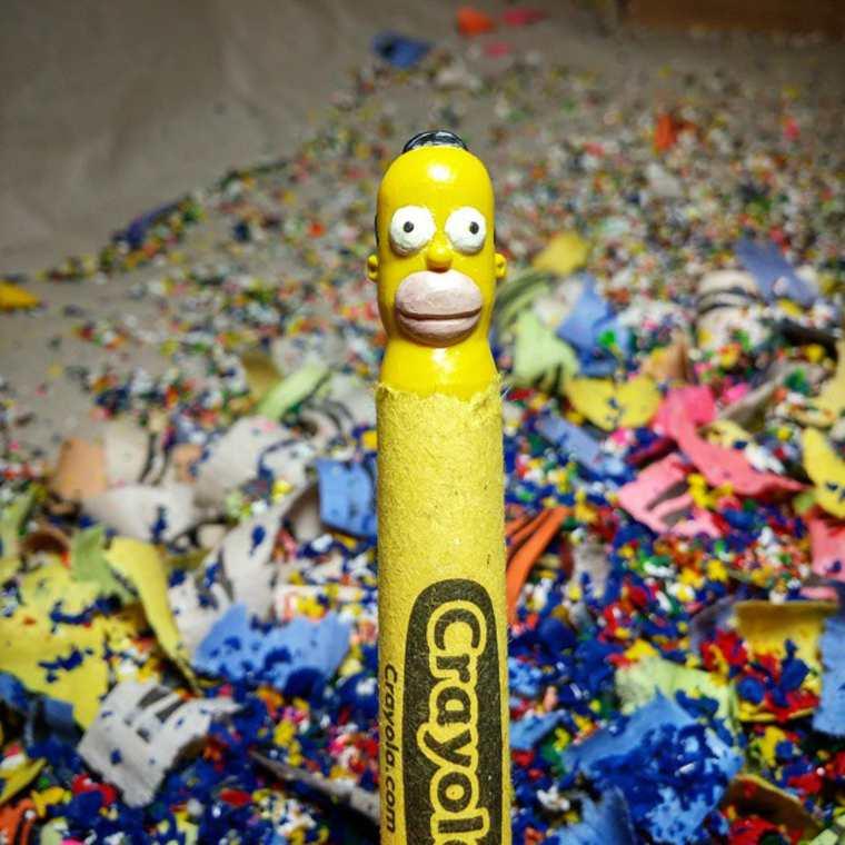 Des crayons sculptés multicolores inspirés de la pop-culture sculpture-crayola-hoang-tran-6