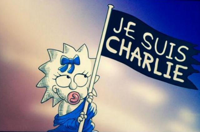 """""""Les Simpson"""" rendent hommage aux victimes des attentats de Paris simpsons-charlie-hebdo"""