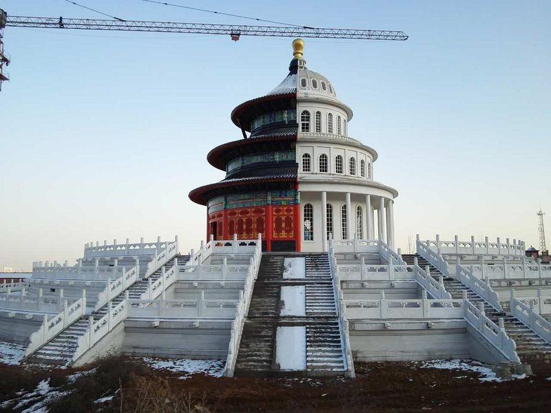 """Ce curieux monument """"deux-en-un"""" se trouve en Chine temple-hybride-chine-4"""