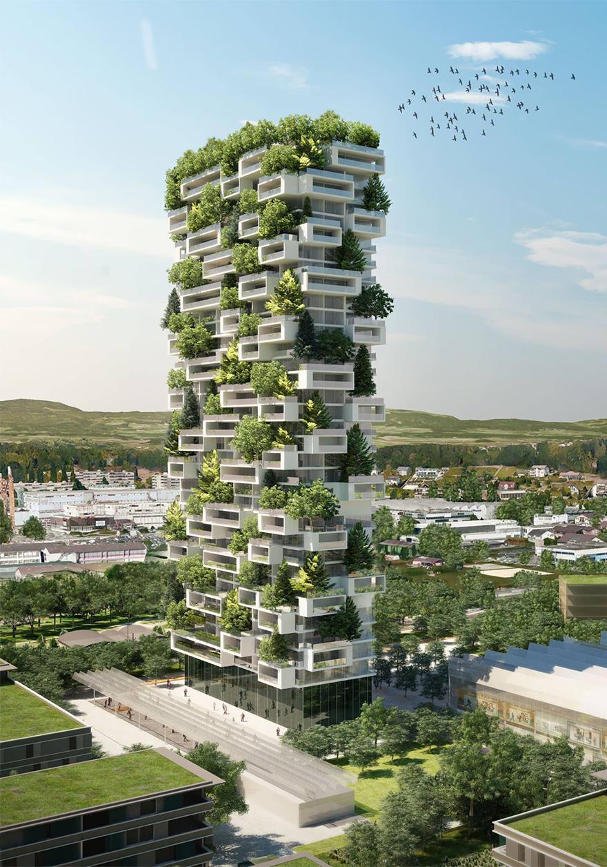 """Bientôt une """"tour verte"""" de 117 mètres de haut en Suisse tour-verte-stefano-boeri-7"""