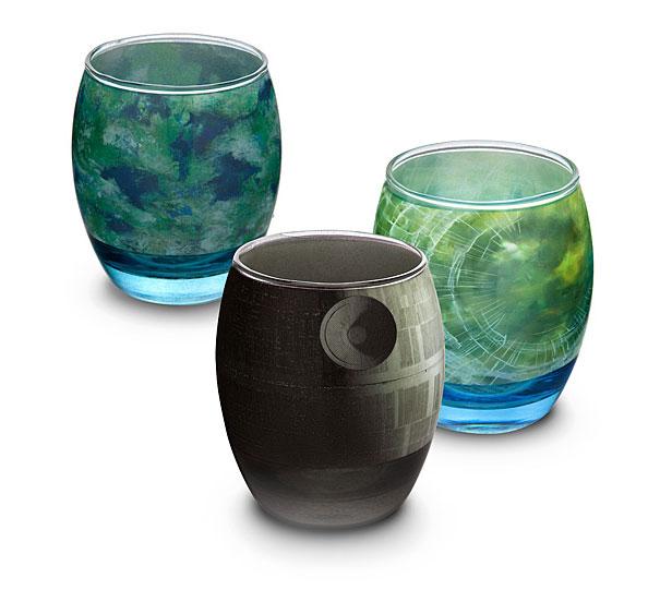 Des verres aux couleurs des planètes de Star Wars verres-planete-star-wars-1