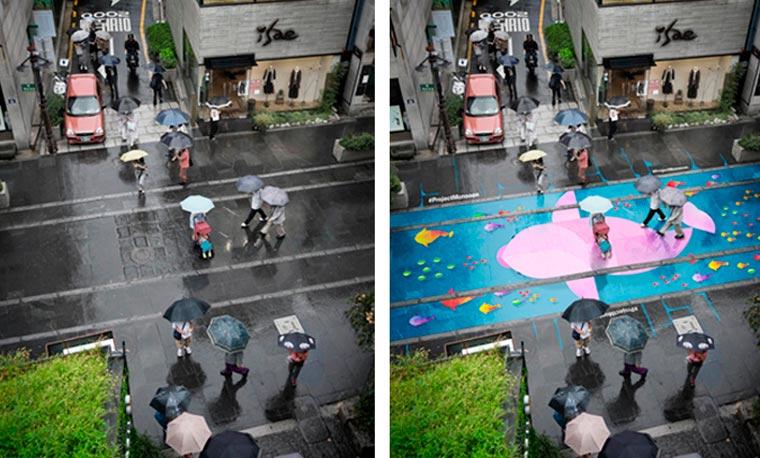 PROJET : lorsqu'il pleut, les rues de Séoul se remplissent de couleurs peinture-pluie-monsoon-projet-4