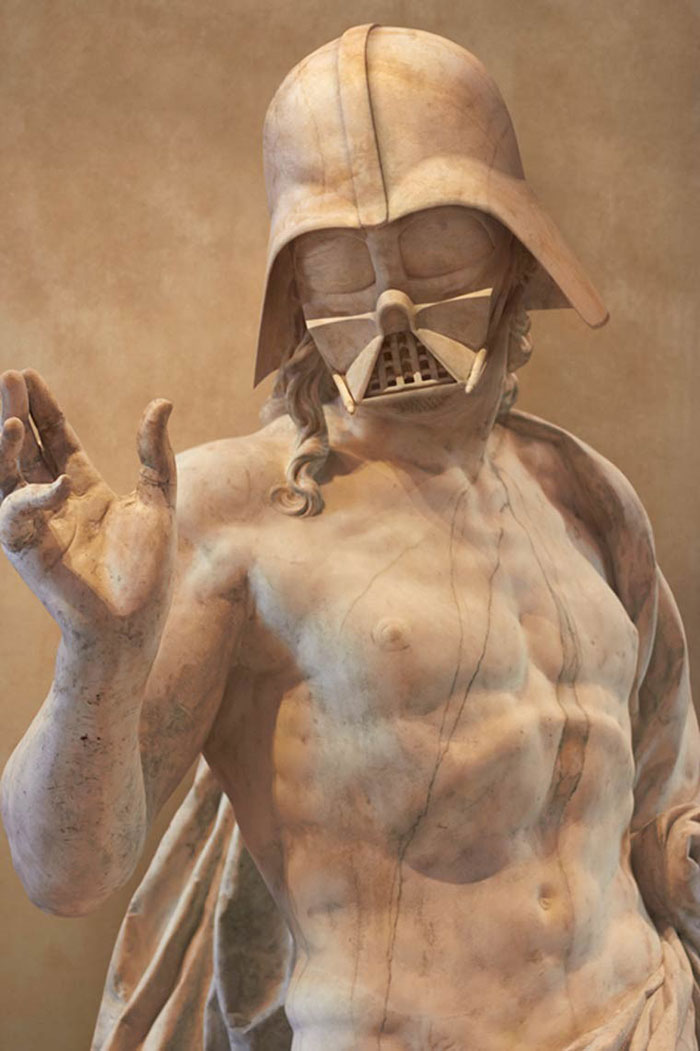 Les personnages de Star Wars transformés en statues de l'antiquité travis-durden-statue-star-wars-2