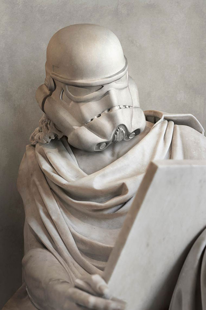 Les personnages de Star Wars transformés en statues de l'antiquité travis-durden-statue-star-wars-4